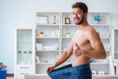 body fit man loses weight