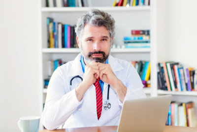 Serious male doctor